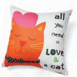 Accent Pillow - All You Need Is Love and a Cat