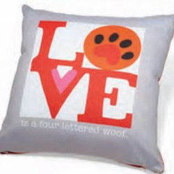 Accent Pillow - Love is a Four Lettered Word