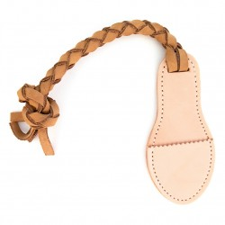 Interactive Natural Leather Tug Toy