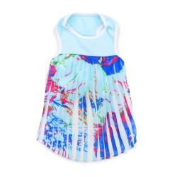 PP Blue Hawaii Pleated Dress