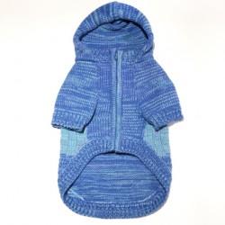Colorblock Hoodie Sweater Coat