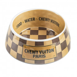 Chewy Vuiton Bowl - Checker