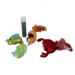 Cat Toys with Refillable Catnip Tube