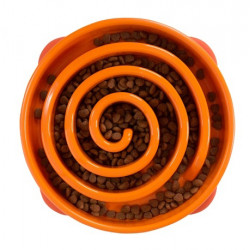 Fun Feeder Slo-Bowl - Orange Swirl