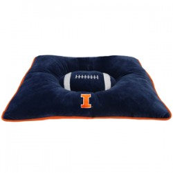 Illinois Fighting Illini Plush Pillow Bed
