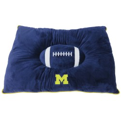 Michigan Wolverines Plush Pillow Bed