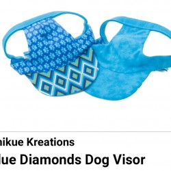 Pet Visor Blue Diamonds