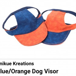 Pet Visor Blue/Orange