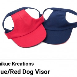 Pet Visor Blue/Red