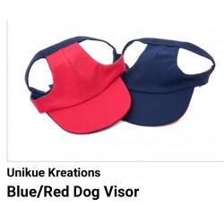 Pet Visor Blue/Red