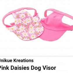 Pet Visor Pink Daisies