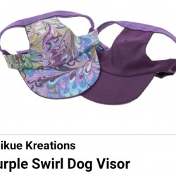 Pet Visor Purple Swirl