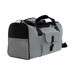 Checkerbarc Hand-Loomed Cotton Pet Carrier